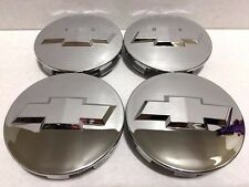 4 PCS, WHEEL EMBLEM CENTER, HUB CAPS, CHEVY, CHROME MIRROR, 83MM, 9596403
