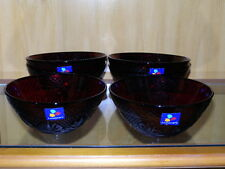 6 Ruby Red Cris/Cristal D'Arques Durand Luminarc Antique Cereal Bowls
