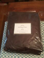 Pottery Barn Silk Dupioni Pole Pocket Drapes 50x108 Espresso Brown