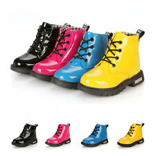 New Cool Girls Boys Childrens Kids Winter Casual Flat Pumps Boots Shoe Size 5-13