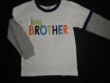 NWT Carter's 5 Big Brother White Long Sleeve T-shirt Top New