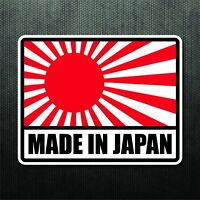 Japanese Rising Sun Flag 12.5 X 20 Set of 2 Decals Cut Vinyl Sticker FREE SHIP
