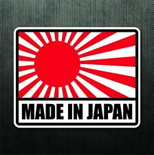 Made In Japan Flag Sticker Vinyl Decal Rising Sun JDM Decal For Honda Mitsubishi