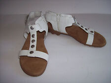 7182cb7bc9b New AEROSOLES CHANDELIER Women s white leather sandals US Sz ...
