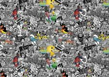 80's Black/white & colour STICKERBOMB SHEET-X1 - 1m x 300mm ( DRIFT/JDM/CARTOON)