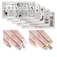 Nail Stamping Plates Animals Theme Nail Art Rectangle Templates NICOLE DIARY