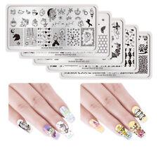 Arte en uñas Planchas para Estampar animales tema plantillas de sello de rectángulo Nicole diario