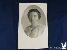 Flandreau S. Dak. 1917 RPPC Lovely Lady White Blouse Lacy Collar Swept Back Hair