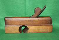 "Antique Vintage 19th Century User 1-3/8"" Skewed Rabbit Moulding Plane Inv#EB56"