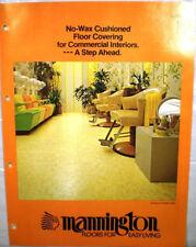 1980 Mannington Mills Catalog Asbestos History Vinyl Tile Asbestos Backing