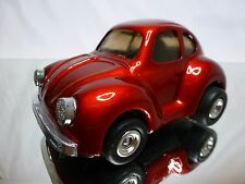 TIN TOYS BLECH VW VOLKSWAGEN BEETLE - RED L12.0cm - FRICTION - GOOD CONDITION