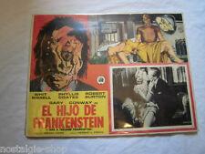 Original 50er Mexican Lobbycard Frankenstein 1957 Plakat Film cinema rare