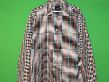 JOS. A. Bank Men's Size XL Extra Large Tailored Fit Plaid Long Slv Button Shirt