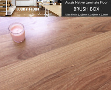 12mm Brush Box Laminate Flooring Floating Timber  Floor boards Click DIY