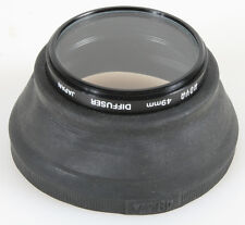 49MM RUBBER LENS HOOD WITH DIFFUSER FILTER