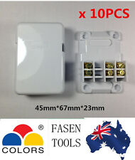 10 x Mini Junction Box 3 Terminals/ Connectors Miniature Cable Join Plastic Case