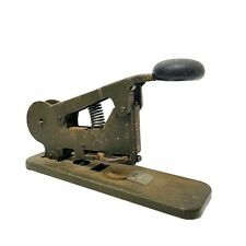 Vintage 1931 Bates Model A Wire Stapler Army Green Military Office Very Rare