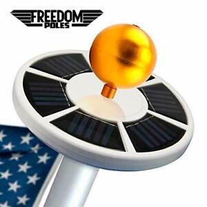Freedom Poles 26 LED Solar Flag Pole Light Solar Flagpole Light 15-30FT