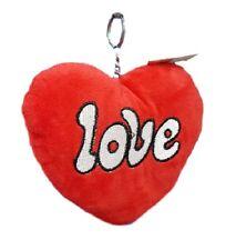 Portachiavi Cuore Rosso Peluche San Valentino Regalo Love You dfh