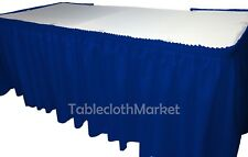 14' ft royal blue POLYESTER PLEATED TABLE SKIRT skirting  show Catering DJ