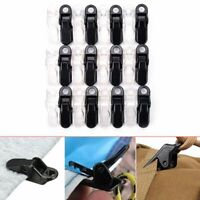 12pcs Tarp Clips Clamp Awning Tent Camping Tie Down Emergency Car Boat Cover