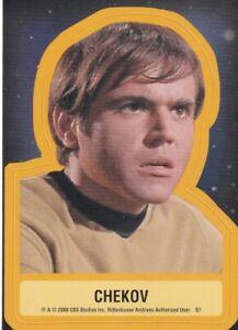 Star Trek 40th Anniversary Series 2 2008 Sticker Card S7 Chekov  Walter Koenig