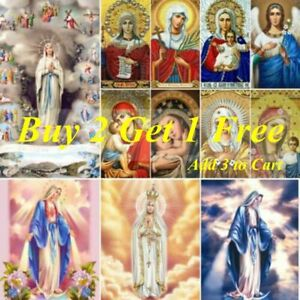 Virgin Mary 5D DIY Full Drill Diamond Painting Kits Home Art Decor Festival Gift