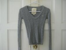 Hollister 1922 Surf Company Cable Knit Gray Pullover Sweater Size XS