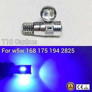 T10 194 168 2825 12961 License Plate Light Blue 6 Canbus LED M1 For Cadillac A
