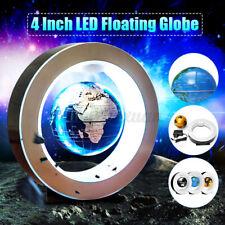 4 Inch LED Magnetic Levitation Floating Earth Globe World Map Office Home Decor