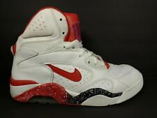Nike Air Force 180 Mid Mens Size 11 BB Shoes White Hyper Red Blue 537330 101