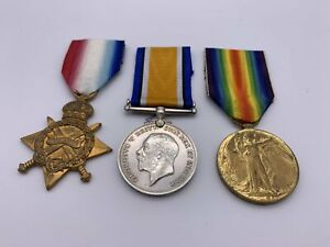 Original WW1 1914/15 Star Medal Trio, Pte. E. Dumphy, Rifle Brig., KIA, Casualty