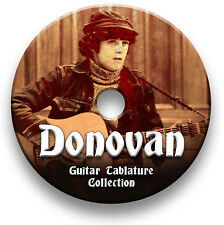 DONOVAN FOLK GUITAR TABS TABLATURE SONG BOOK SOFTWARE CD