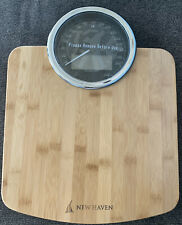 New Haven Pure Harmony Bamboo Wooden Bathroom Scale Msrp $229.00