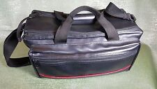 Video/Film Camera Bag Black Faux Leather with Strap