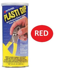 RED 14.5oz Performix PLASTI DIP Plastic Multi Rubber Grip Coating Handle Tool