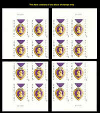 US 4704a Purple Heart Medal imperf NDC plate block MNH 2012