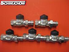 """5 x Heimeier Thermostat valve passage 1/2"""" Thermostat Valve Radiator valve"""