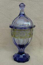 Antico Bohemien MOSER ART DECO Alessandrite taglio vetro BOCCONCINI Jar Pot & COVER