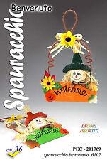 Welcome halloween spauracchio spaventapasseri fuoriporta di benvenuto cm 36