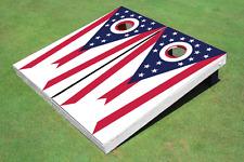 Ohio State Flag Custom Cornhole Board