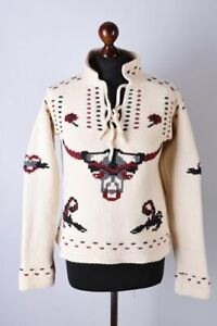 Ladies Alexander McQueen Bull Print Rare Knitted Jumper Size S