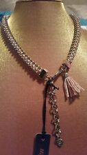 ♡♡♡BNWT Mimco SEXY STYLISH VICTORIOUS SILVER CHOKER COLLAR NECKLACE RRP $ 129.00