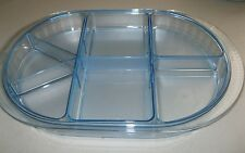 TUPPERWARE ~ PRELUDIO DIVIDED ACRYLIC SERVING TRAY  Watercolor Blue (prev owned)
