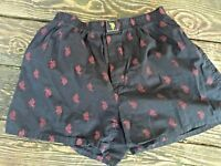 US POLO ASSN The Polo Horse RED on BLACK Boxer Shorts Underwear Mens Sz M 👚tb18