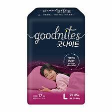 """2021 Brand-New Korea diaper"" GoodNites Bedwetting Underwear, Girls, Size L-17Ct"