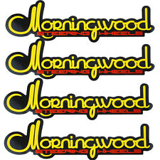 MORNINGWOOD 4 PIECE STICKER VINYL DECAL LOGO STICKERBOMB FOR CAR/TRUNK/HOOD A