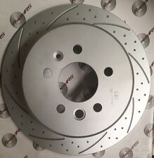SLOTTED DISC BRAKE ROTORS TO SUIT NISSAN SKYLINE R33 GTS R34 GTT GROOVED DIMPLED