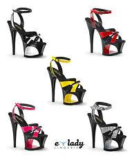 Pleaser Moon-728 Shoes Ankle Strap Platform Sandals Strappy Pole Dancing Heels