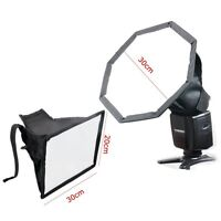 "MF30MF2030 30cm 12"" Octagon + 20x30cm 8""x12"" Flash Diffuser Speedlight SOFTBOX"